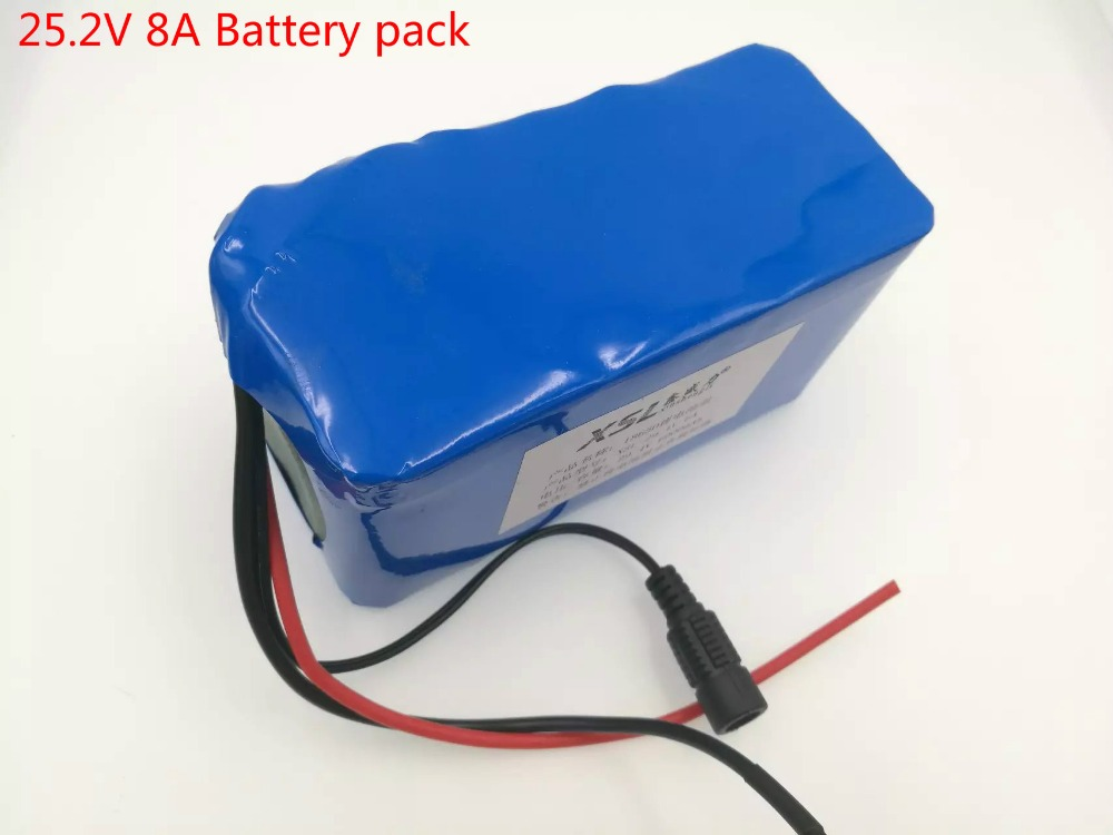 ФОТО 24V 8Ah 6S4P 18650 Battery li-ion battery 25.2v 8000mAh electric bicycle moped /electric/lithium ion battery pack