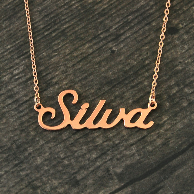 Any Personalized Name Necklace alloy  pendant  Alison font  fascinating  pendant  custom name necklace Personalized  necklace 3