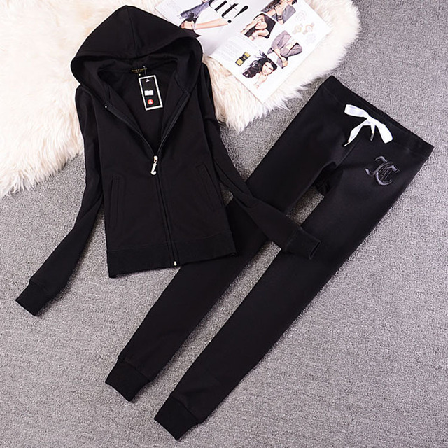 Fashion Casual Velvet Fabric Women Tracksuits Velour Suit Hoodies Tops and Sweat Pants Set S-XXL 1