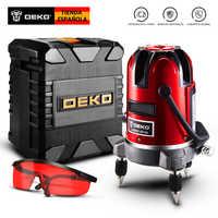 DEKO LL5 Series Self-leveling 5 Line 6 Points Horizontal&Vertical Laser Level 360 Degree Adjustment Higher Visibility