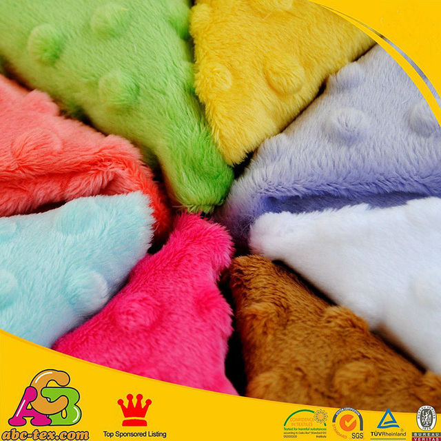 7d4d7dffb5 Minky fabric baby blanket knitting use