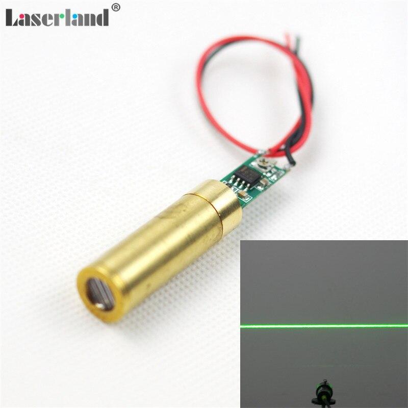 12*34mm 532nm Grün Laser 5 mw-10 mw Linie und Kreuz Form Modul Diode Lazer APC schaltung 3,0-3.7VDC Viele Angels für Option