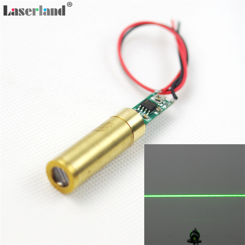 12*34mm 532nm Green Laser 5mW-10mW Line And Cross Shape Module Diode Lazer APC Circuit 3.0-3.7VDC Many Angels For Option