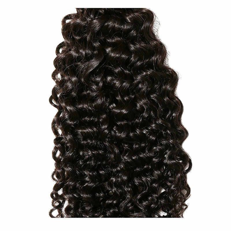 Yavida перуанские вьющиеся волосы 3/4 пучки с закрытием шнурка 100% не Реми человеческие волосы на Трессах для наращивания с закрытием