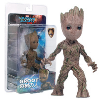 Free Shipping 15cm Tree Man Groot Action Figure Toy PVC Marvel Movie Hero Model Doll Toy Guardians of the Galaxy Boy Gift