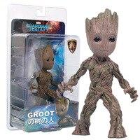 Darmowa Wysyłka 15 cm Marvel Drzewo Man Groot Figurka Toy PVC film Hero Modelu Lalki Zabawki strażnicy Galaktyki Chłopiec Prezent
