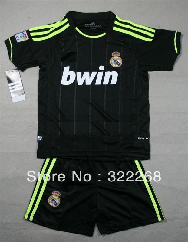 cheap for discount 3c6b2 24f60 Free Shipping!12 boys kids RM away Kit (Shirt+Shorts) Soccer ...