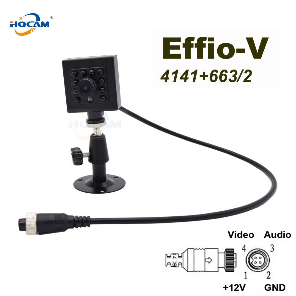 HQCAM Effio-A Sony CCD 800TVL WDR 0.0003Lux Night vision 10pcs 940nm IR LED Security Indoor Mini ccd camera IR vehicle camera hqcam effio a sony ccd 800tvl wdr 0 0003lux 10pcs 940nm ir led security indoor mini ccd camera ir night vision camera vehicle