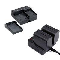 Dual Digital Battery Charger For SONY NP F970 F750 F550 F960 QM91D FM50 FM500H