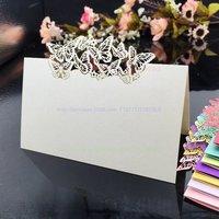אספקת חתונה 100 יח'\אריזה פירסינג פרפר חיתוך לייזר שולחן מסיבת חתונה שם מקום כרטיסי הזמנות לחתונה 5CD044