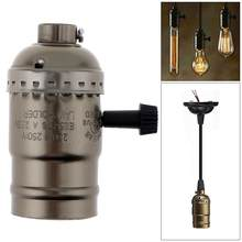 250W 110-250V Pendant Light E27 Lamp holder Socket Bronze Color Edison Retro Pendant Lamp with Knob Switch Holder Without Wire(China)