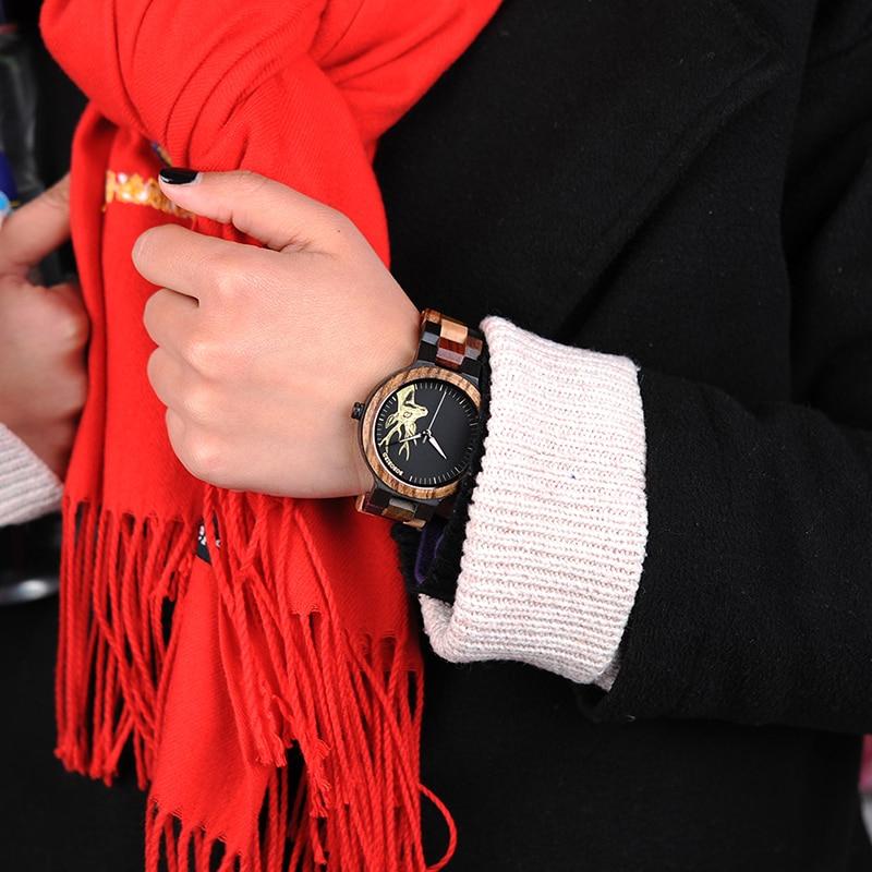 Montres Femmes bracelet magnifique en bois naturel