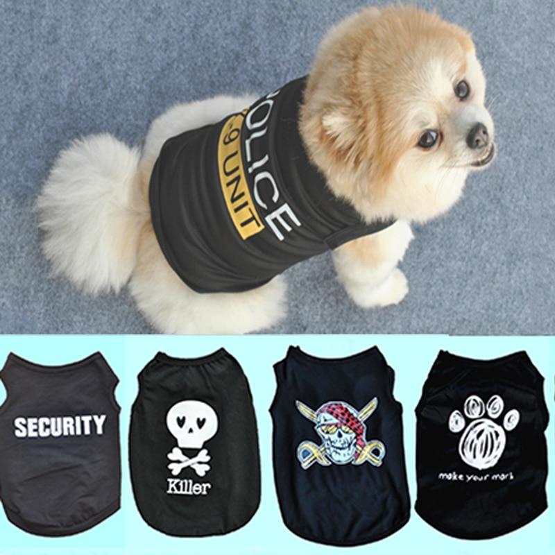 1PC High Quality Unisex Pet Dog Clothes Soft Cotton Pet T Shirt Vest Summer Puppy Cat Clothing Vest Black
