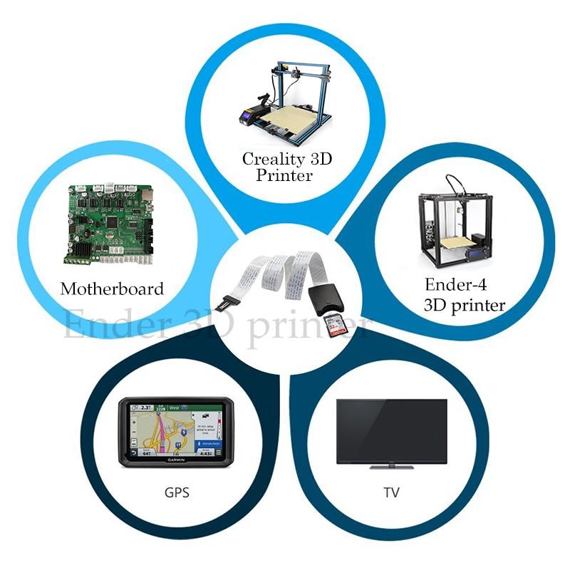 Micro SD To SD Card Extension Cable Adapter Flexible Extender SD for Monoprice Select 3D Printer-Ras