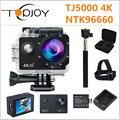 Topjoy tj5000 ntk96660 4 k câmera de ação 2 ''170d 16 m 1080 p mini cam nightshot prompt de voz 30 m câmera esporte capacete à prova d' água