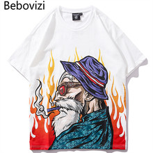 Bebovizi 2019 Summer White T Shirt Men Hip Hop T-Shirts Harajuku Japan Anime Streetwear Tshirt Short Sleeve Tops & Tees все цены