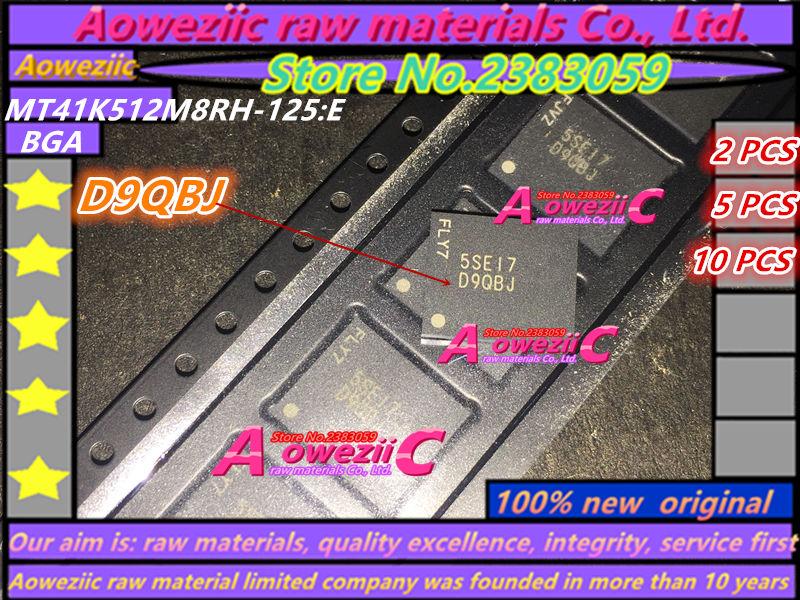 Aoweziic 100 % 새로운 원본 MT41K512M8RH-125 : E MT41K512M8RH D9QBJ 메모리 칩