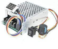 Cyfrowy wyświetlacz 0 ~ 100% regulowany DC 10 50V 40A regulator obrotów silnika DC PWM 12V 24V 48V 2000W MAX 60A odwracalny