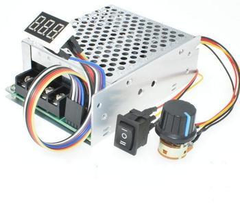 Wyświetlacz cyfrowy 0 ~ 100 regulowany DC 10-50V 40A regulator prędkości silnika DC PWM 12V 24V 48V 2000W MAX 60A odwracalny tanie i dobre opinie TCXRE Silnik prądu stałego
