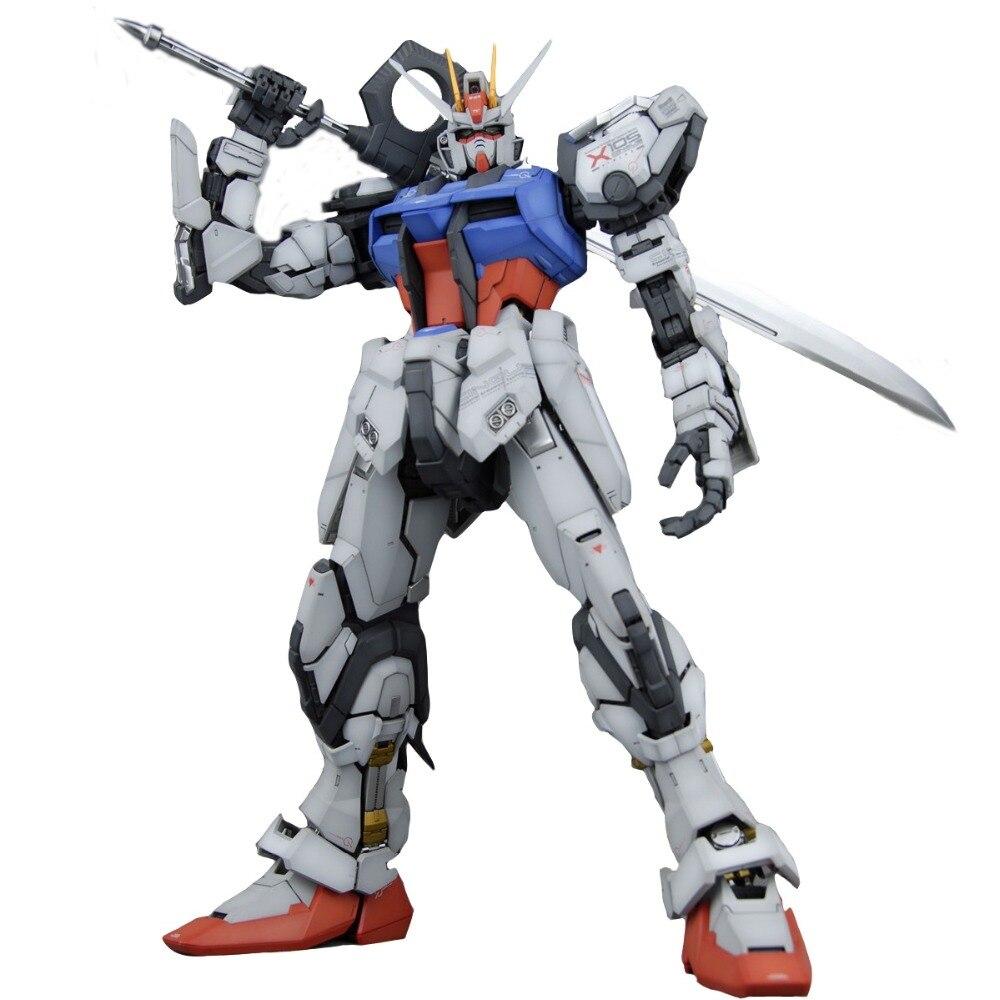 Brand Daban PG 1/60 GAT-X105 Launcher STRIKE GUNDAM with Shield Assemble Model Fight boys Robot ABS Action Figure juguetes