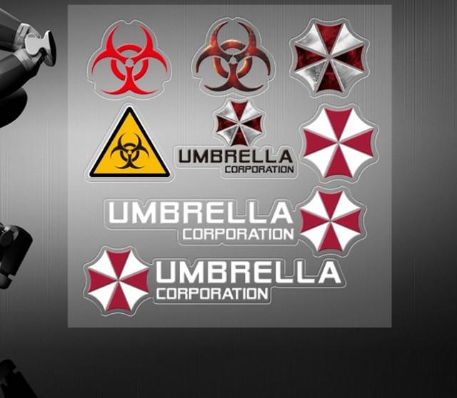 50 pcs Car Styling Resident Evil Parapluie Autocollant Véhicule ...