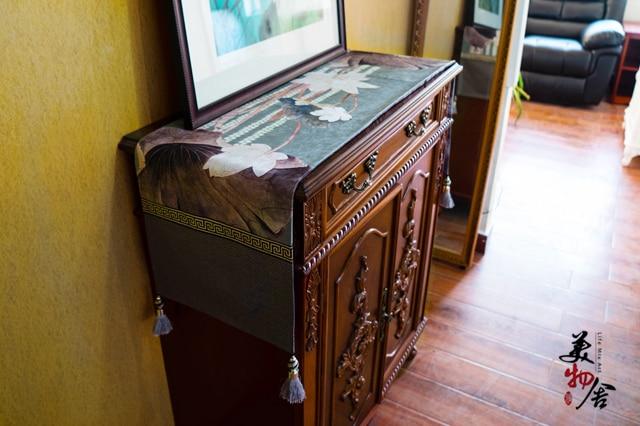 Debeli ručni rad kineski budistički lokus trkač klasični stolni - Tekstil za kućanstvo