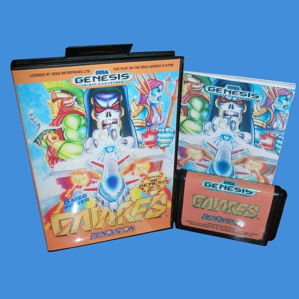 Gaiares With Box And Manual 16bit MD Game Card For Sega Mega Drive For Genesis