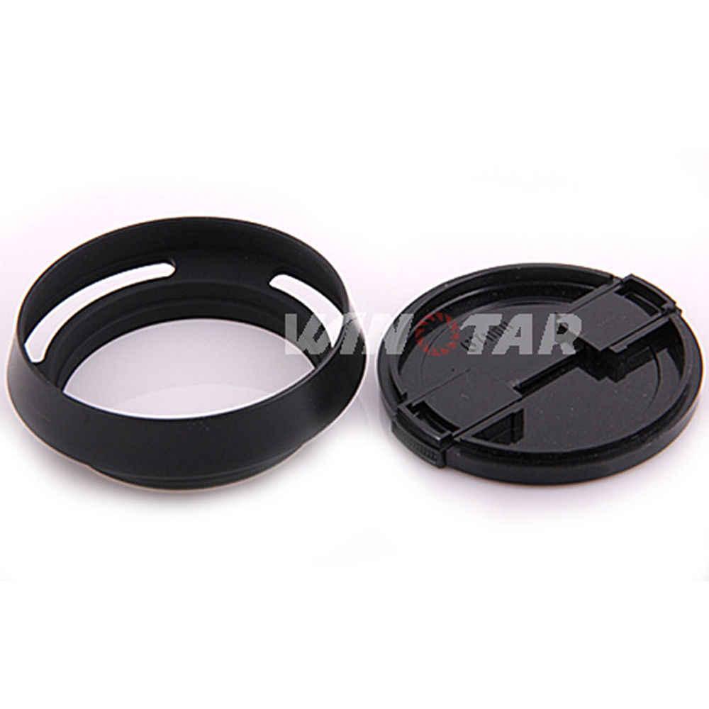 40.5mm Vis-en métal tilted ventilé Lens Hood + Lens cap Pour Sony A6500 A6300 A6100 A5100 A6000 A5000 Avec Sony E 16-50mm lentille