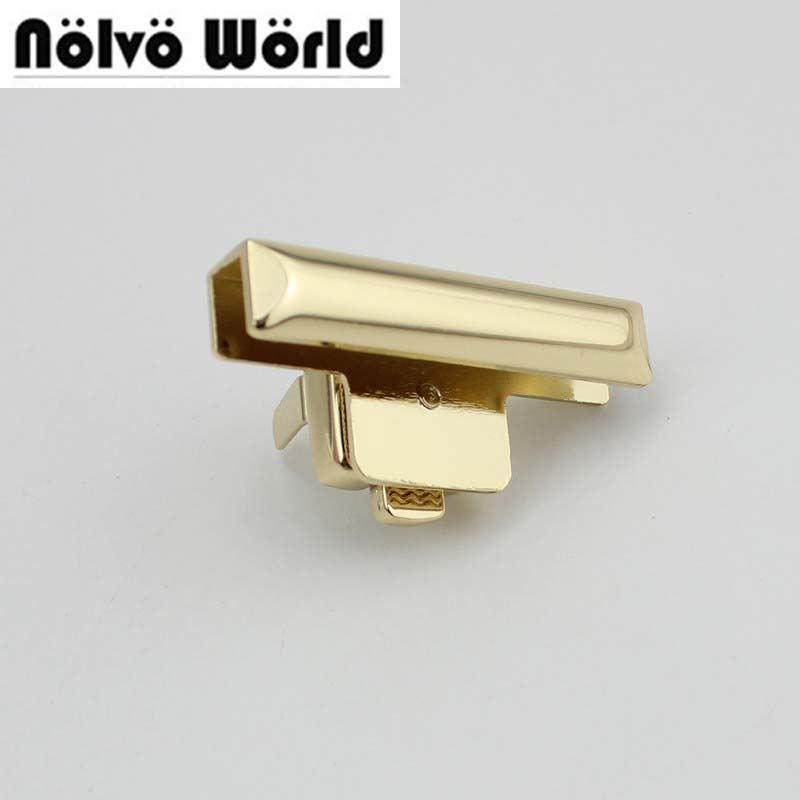 20 наборов 49*24 мм замок ручной работы женские Пакетоделательная Gunmetal нажатии замок портфель замок для натуральная кожа Аппаратные средства ...