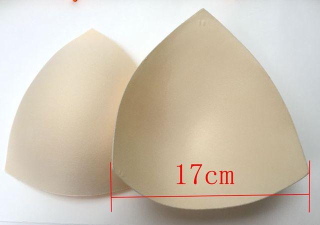 5 pair/lot foam push up bra pads 17cm big size bikini swimsuit padding inserts women intimates padded invisible removable cups