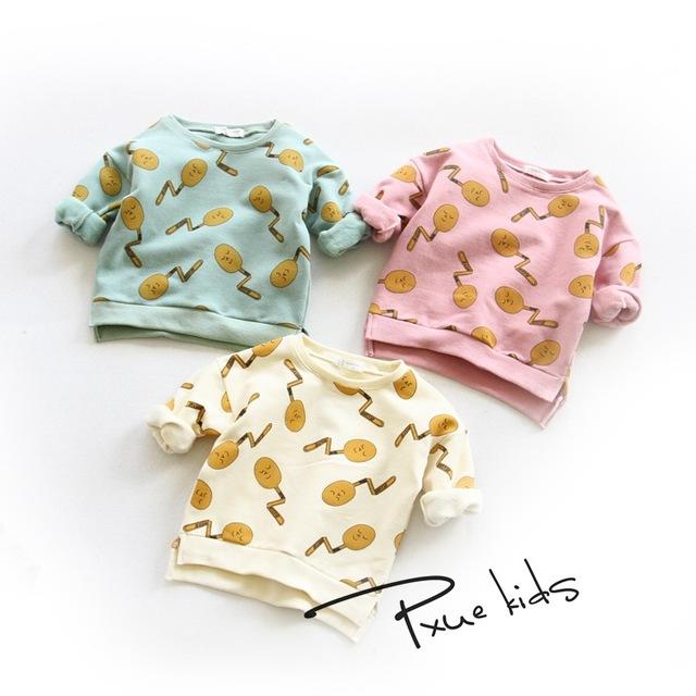 Crianças hoodies 2016 bobo choses camisola do inverno para meninos manga camisas de t para meninas roupas quentes meninos natal do bebê roupas