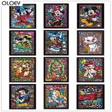 Full Square Drill 5D Diamond Painting Cartoon Disney DIY Embroidery Accessories Tool Cross Stitch Wall Decor