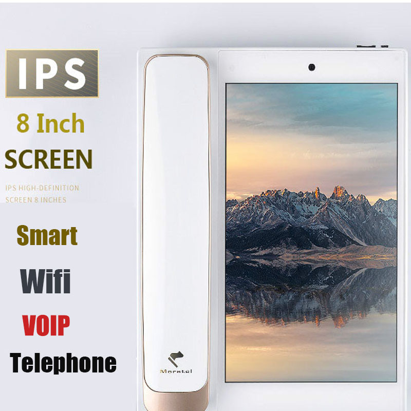 US $429 0 20% OFF|Andrews Smart Network Video Fixed SIP IP Telephone With  Call ID SMS WIFI Recording Address Blacklist For Home Office Bussiness-in