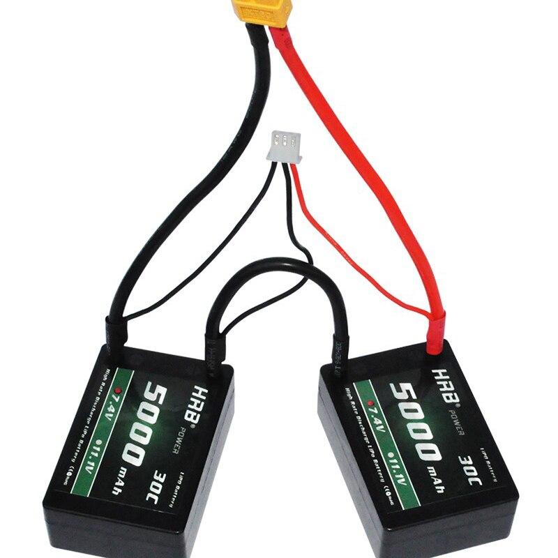 HRB RC Car Hard Case Lipo 2S Battery 7 4V 5000mah 30C MAX 60C Pack Hard
