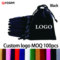 Логотип печатных микрофибры мешки Drawstring, мешок ювелирных изделий