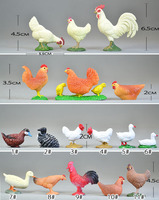 solid pvc Simulation model duck and goose farm animal toys Decoration solid rooster hen chicks duck