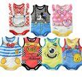 Littlespring Bodysuit bebê roupas de bebê meninos e meninas de mangas dos desenhos animados impresso bonito 21 pçs/lote