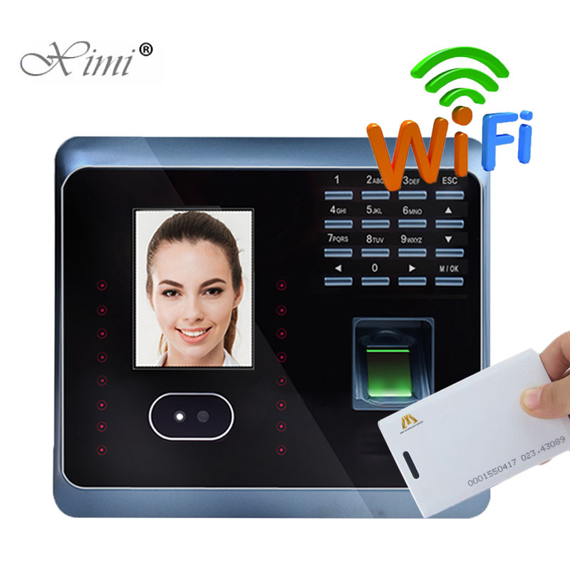 UF100Plus Face Recognition Time Attendance With Fingerprint And RFID Card EM Card Reader TCP/IP WIFI Facial Employee Time ClockUF100Plus Face Recognition Time Attendance With Fingerprint And RFID Card EM Card Reader TCP/IP WIFI Facial Employee Time Clock