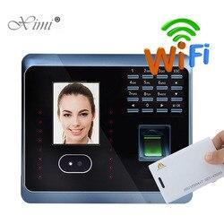 UF100Plus tiempo de asistencia al reconocimiento Facial con lector de tarjetas EM de huella digital y RFID TCP/IP WIFI reloj de empleado Facial