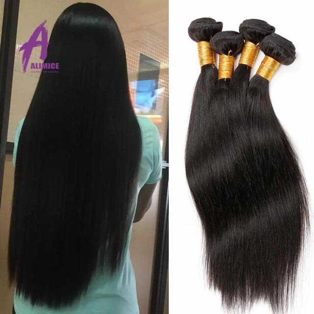 Malaysian Virgin Hair Straight weave 4 Bundles 8A Grade Virgin Cheap Unprocessed Human Hair Mink Malaysian Straight Hair