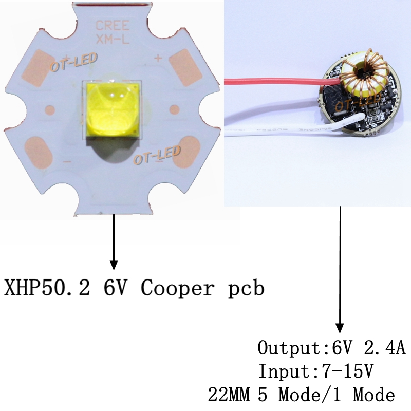 Newset CREE XHP50.2 XHP50 2 generation LED Cold White/Neutral White LED Emitter Diode 20mm cooper pcb +22MM 5 Mode/1 Mode Driver 10w 12w ultra violet uv 365nm 380nm 395nm high power led emitting diode on 20mm cooper star pcb