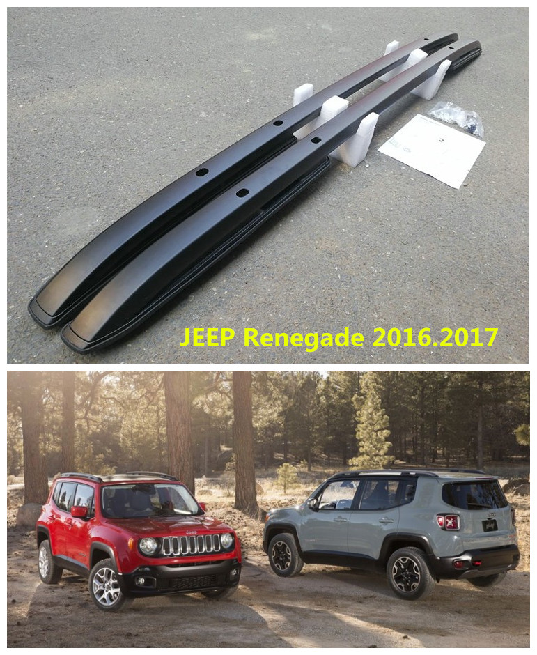 For JEEP Renegade 2016.2017 Roof Racks Auto Luggage Rack High Quality New Aluminum Screw Installation Car Accessories