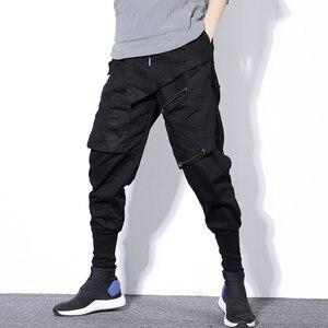 Image 1 - Мужские шаровары в стиле хип хоп, черные повседневные спортивные брюки карго для бега, весна 2020