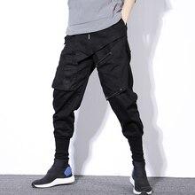 Streetwear אביב הרמון מכנסיים גברים היפ הופ שחור מזדמן Mens רצים מכנסיים 2020 חדש מכנסי טרנינג מטענים מכנסיים גברים