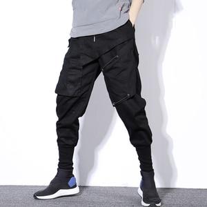 Image 1 - Streetwear Spring Harem Pants Men Hip Hop Black Casual Mens Joggers Pants 2020 New Sweatpants Cargo Trousers Men