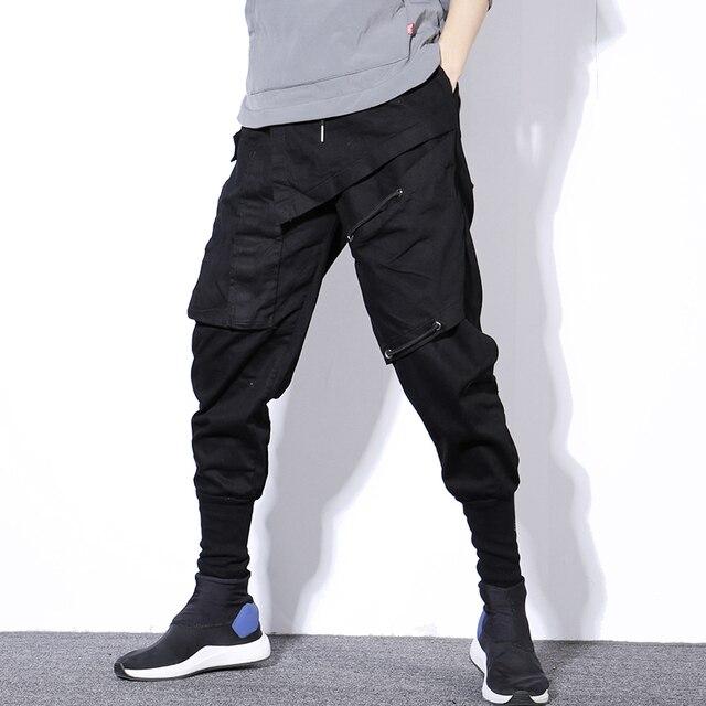 Streetwear Spring Harem Pants Men Hip Hop Black Casual Mens Joggers Pants 2020 New Sweatpants Cargo Trousers Men