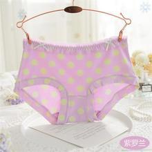 2017 New Underwear Women's Dot Modal Sexy Lingerie Panties ladies underwear Sexy Briefs Candy Color Cotton Comfortable Underwear