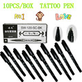 10pcs/box Tattoo and Body Art Skin Marker Pen Double Scribe Piercing Pen supply free shipping