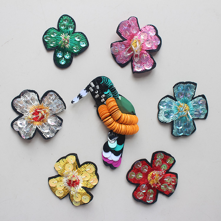 3D Embroidery Flower Patch Beaded Birds Buiter Patches for Women s Clothing  Wedding Dress Fabric Accessories Diy Appliqued d55ec303495e