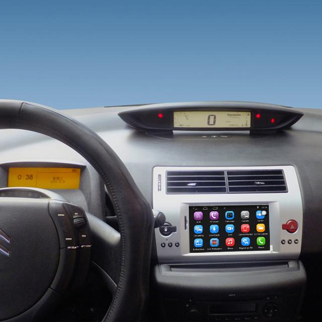 7 pulgadas Android de Navegación GPS Del Coche para Citroen C4 C-quatre C-triomphe Coche de Radio Reproductor de Vídeo de Apoyo WiFi
